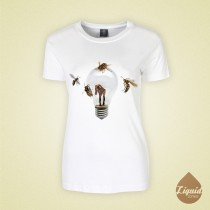little son ladies white t-shirt